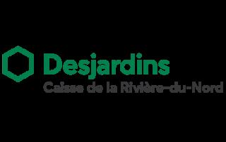Logo caisse Desjardins, partenaire des Incroyables Comestibles Rivière-du-Nord