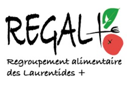 Logo Regal+, partenaire des Incroyables Comestibles Rivière-du-Nord
