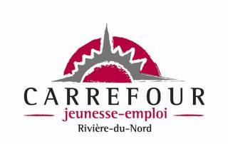 Logo carrefour jeunesse-emploi Rivière-du-Nord, partenaire des Incroyables Comestibles Rivière-du-Nord